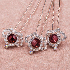 "Hairpins Wedding/Special Occasion/Casual/Outdoor/Party Crystal/Rhinestone/Alloy 3.35""(Approx.8.5cm) 0.87""(Approx.2.2cm) Headpieces"