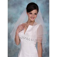 Elbow Bridal Veils Tulle One-tier Cascade With Scalloped Edge Wedding Veils