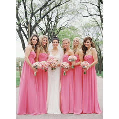 A-Line/Princess Sweetheart - Chiffon Bridesmaid Dresses