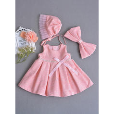 Satén Escote redondo Lazo(s) Vestidos de bautizo para bebés con Sin mangas (2001218027)