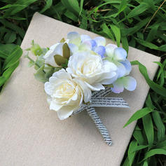 "Wrist Corsage/Boutonniere Free-Form Wedding Satin 4.33"" (Approx.11cm) Wedding Flowers"