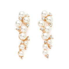 Earrings Pearl/Rhinestones Pierced Ladies' Charming Wedding & Party Jewelry