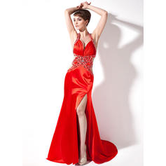 Flattering Sweetheart Trumpet/Mermaid Charmeuse Evening Dresses
