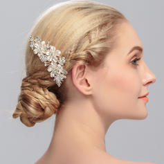 "Combs & Barrettes Wedding/Special Occasion Rhinestone/Alloy 4.02""(Approx.10.2cm) 2.76""(Approx.7cm) Headpieces"