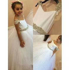 Luxurious Floor-length Ball Gown Flower Girl Dresses Straps Sleeveless