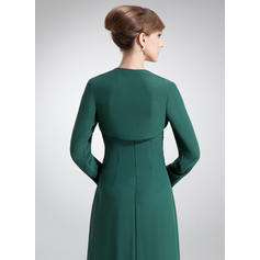 Precioso Sin tirantes Corte A/Princesa Gasa Vestidos de madrina (008211221)