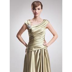 Mote Charmeuse V-hals A-formet/Prinsesse Kjoler til Brudens Mor (008006308)