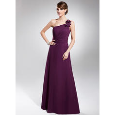 Flattering One-Shoulder A-Line/Princess Chiffon Evening Dresses (017200577)