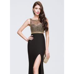 long fitted black prom dresses