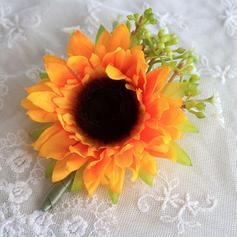 "Boutonniere Wedding Satin/Silk 3.15""(Approx.8cm) 3.94""(Approx.10cm) Wedding Flowers"