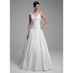 Taffeta A-Line/Princess Floor-Length Sweetheart Wedding Dresses (002211330)