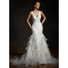 General Plus With Satin Organza Wedding Dresses