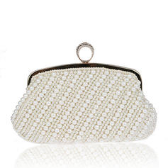 Clutches Wedding/Ceremony & Party Imitation Pearl Snap Closure Special Clutches & Evening Bags