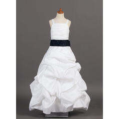 Sweetheart Floor-length A-Line/Princess Flower Girl Dresses Taffeta Sleeveless