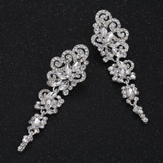 Earrings Alloy/Rhinestones Pierced Ladies' Charming Wedding & Party Jewelry