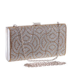Fashion Handbags Ceremony & Party Crystal/ Rhinestone Clip Closure Elegant Clutches & Evening Bags