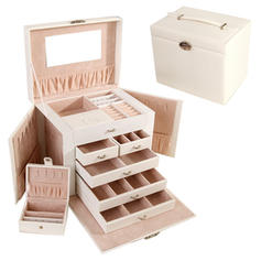 "Jewelry Box Wood 10.24""(Approx.26cm) 9.84 ""(Approx.25cm) Wedding & Party Jewelry"