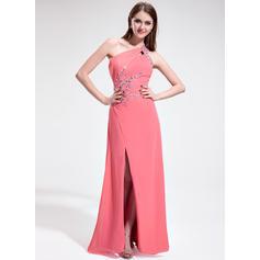 Gasa Moderno Vestido tubo Hasta el suelo Vestidos de baile de promoción (018025301)