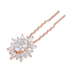 "Hairpins Wedding/Special Occasion/Casual Copper/Zircon 3.35""(Approx.8.5cm) 1.06""(Approx.2.7cm) Headpieces"