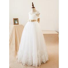 white flower girl dresses for wedding long