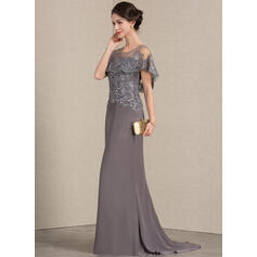 purple and silver evening dresses