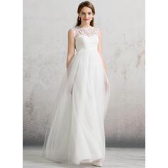 Forme Princesse Col rond Longueur ras du sol Tulle Robe de mariée (002088485)