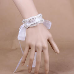 "Wrist Corsage Wedding/Party Crystal/Organza 1.18"" (Approx.3cm) The color of embellishments are shown as picture/The length of wrist corsage is adjustable Wedding Flowers"