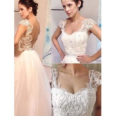 Cuentas Corte A/Princesa con Tul Vestidos de novia (002148021)