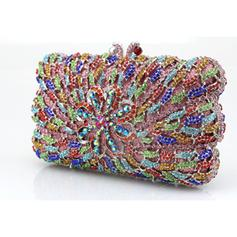 Clutches/Wristlets Wedding/Ceremony & Party Acrylic/PU Clip Closure Shining Clutches & Evening Bags