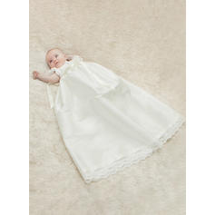 A-Line/Princess Scoop Neck Floor-length Satin Christening Gowns With Lace (2001216820)
