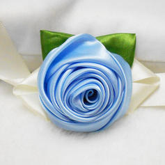 Wrist Corsage Round Wedding/Party/Casual Ribbon/Artificial Silk The color of embellishments are shown as picture/Color & Style representation may vary by monitor/Not responsible for typographical or pictorial errors. Wedding Flowers