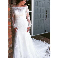 Tulle Lace Cathedral Train With General Plus Wedding Dresses