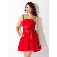 A-Line/Princess Short/Mini Chiffon Homecoming Dresses (022020835)