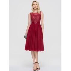 robes de cocktail rouge sans manches