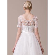 blush robes de mariée en dentelle