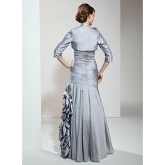 Deslumbrante Novio Corte A/Princesa Tafetán Vestidos de madrina (008211231)