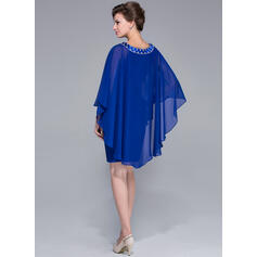 blue mother of the bride dresses with jacket