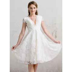 Renda Vestidos princesa/ Formato A com Magnífico Geral Mais Vestidos de noiva (002088472)