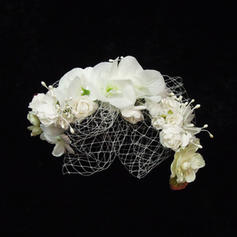 "Fascinators/Flowers & Feathers Special Occasion Artificial Silk/Tulle 8.66""(Approx.22cm) 4.33""(Approx.11cm) Headpieces"
