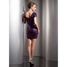 3/4 sleeve long cocktail dresses