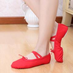 Frauen Ballett Flache Schuhe Leinwand Tanzschuhe