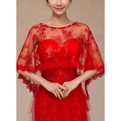 Wrap Wedding Lace With Rhinestones Ivory Red Wraps