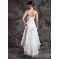 robes de mariée violettes et blanches