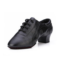 Women's Practice Heels Pumps Leatherette With Lace-up Dance Shoes
