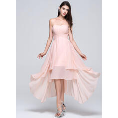 A-Line Sweetheart Asymmetrical Chiffon Bridesmaid Dress (007022746)
