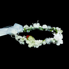 "Flower Girl's Headwear Wedding Artificial Silk 9.84""(Approx.25cm) 9.84""(Approx.25cm) Headpieces"