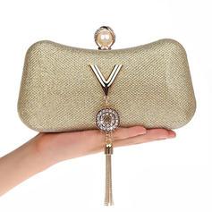 Elegant PU Grepp/Handledsväskor/Makeup Väskor/Lyx Bag