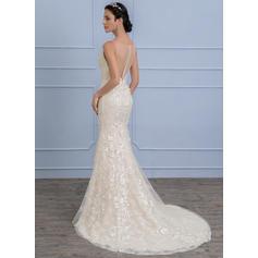 vestidos de novia de encaje corto