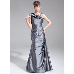 Trumpet/Mermaid Taffeta Sleeveless Floor-Length Zipper Up Mother of the Bride Dresses (008005672)