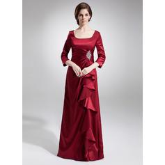 Forme Princesse Encolure carrée Charmeuse Moderne Robes mère de la mariée (008213093)